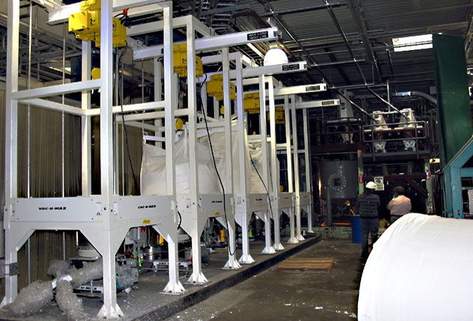 Paper Products Bulk Bag Unloading System
