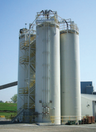 Group of Bulk Material Storage Silos