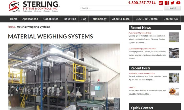 Sterling Systems & Controls, Inc.
